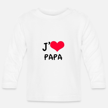 I love Dad red heart - Baby Longsleeve Shirt
