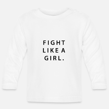 A Fight Like A Girl | Animal Fashion - Långärmad baby T-shirt