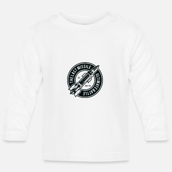 Mars Baby Clothes - The Last Missile - Baby Longsleeve Shirt white