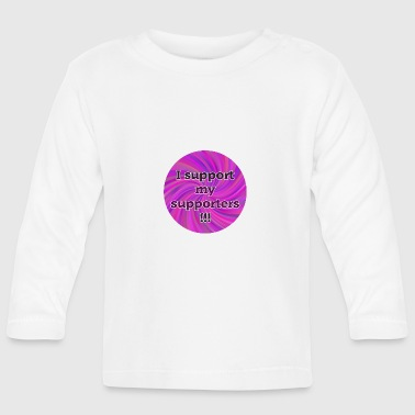 Community I support my supporters - Community Shirt - Pink - T-shirt manches longues Bébé