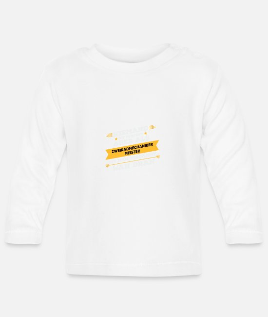 Occupation Baby Long-Sleeved Shirts - Two wheel mechanic master's work gift - Baby Longsleeve Shirt white