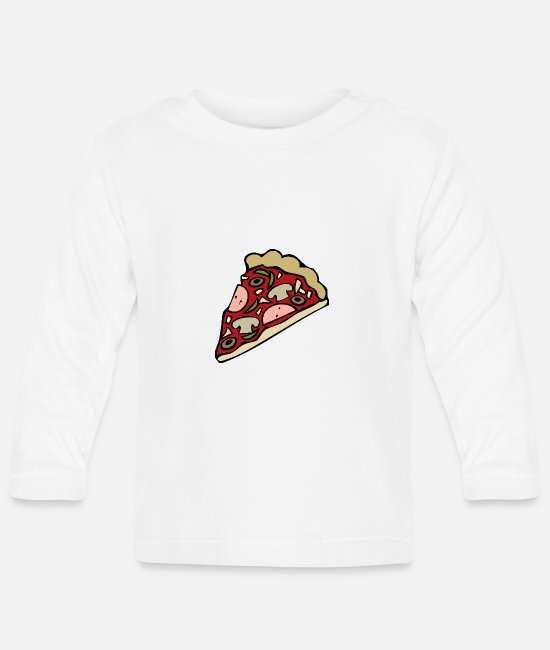 Turin Baby Long-Sleeved Shirts - pizza pizzeria food food restaurant14 - Baby Longsleeve Shirt white