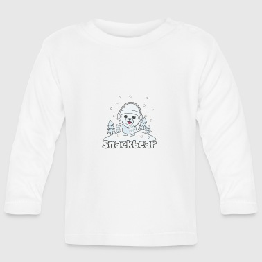Snack bear / snack bear in the snow - Baby Long Sleeve T-Shirt
