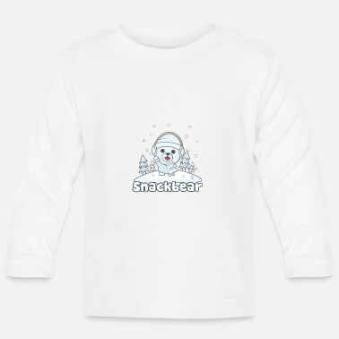 Snack Snack bear / snack bear in the snow - Baby Longsleeve Shirt