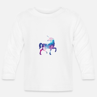 Unicorn with constellation design - Baby Longsleeve Shirt