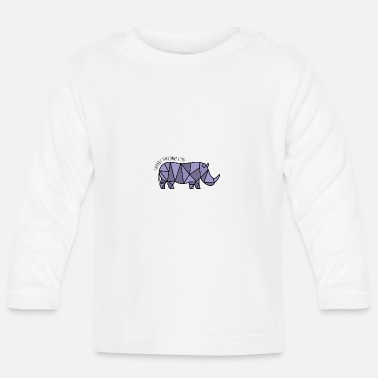 Rhinoceros rhino - Baby Long Sleeve T-Shirt