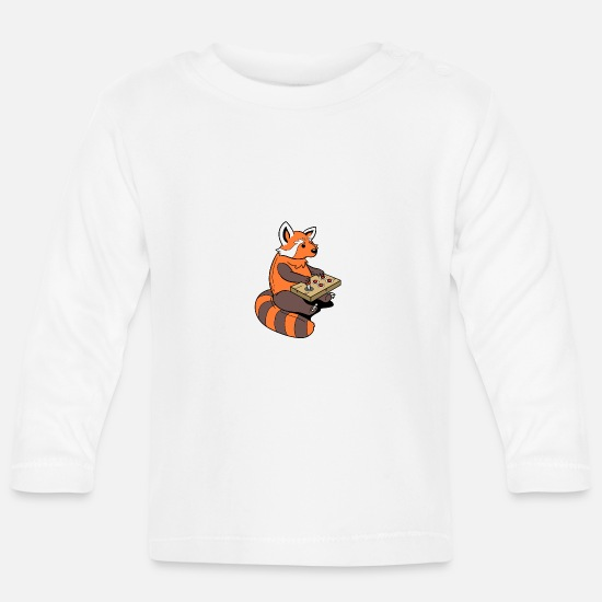Play Baby Clothes - roterpanda gamer - Baby Longsleeve Shirt white