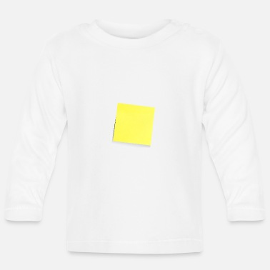 Note Clue yellow sticky note, sticky note, sticky note - Baby Longsleeve Shirt