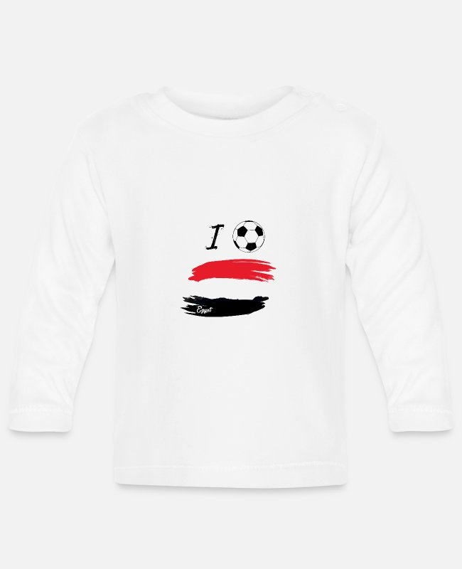 World Championship Baby Long-Sleeved Shirts - I Football Egypt 2018 Tshirt World Cup - Baby Longsleeve Shirt white