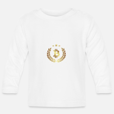 Bitcoin currency gold sign - Baby Longsleeve Shirt
