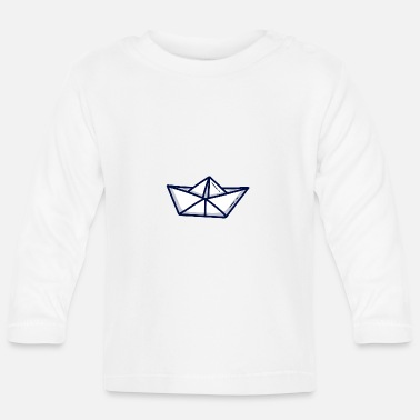 Paper Paper ship paper boat - Baby Longsleeve Shirt