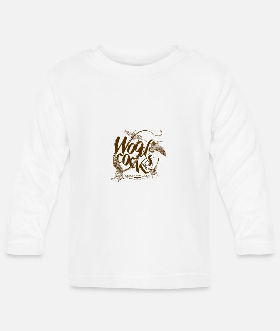 Wilderness Baby Clothes - woodcocks_on_white - Baby Longsleeve Shirt white