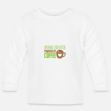 Animal Liberation animal liberator powered by coffee - Baby Longsleeve Shirt