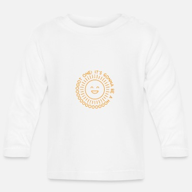 Hot Sun Happy - Långärmad baby T-shirt