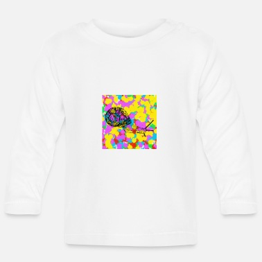 Funky Snail Pop Colour Tie Dye Background Funky Indie - Baby Longsleeve Shirt