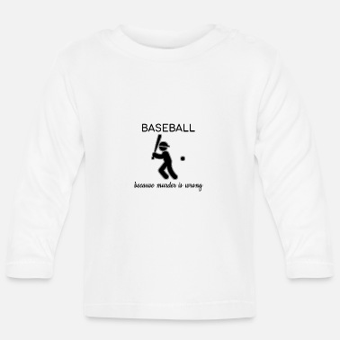 Batball baseball game playing field coach baseball - Baby Longsleeve Shirt