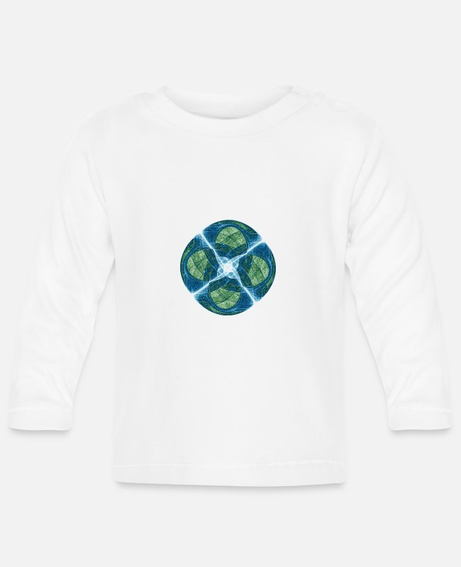 Chaos Baby Long-Sleeved Shirts - Order Chaos Art Star Square 9781oce - Baby Longsleeve Shirt white