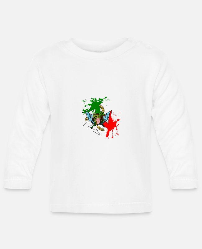 Design Baby Long-Sleeved Shirts - Sicily Trinacria Splash - Baby Longsleeve Shirt white