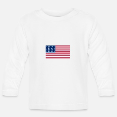 Cash Dollar Sign (USA FLAG) - Baby Longsleeve Shirt