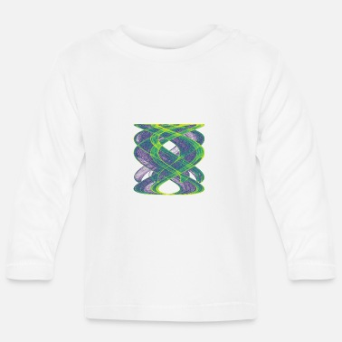 Physics Watercolor art graphic painting picture chaos 13833vir - Baby Longsleeve Shirt