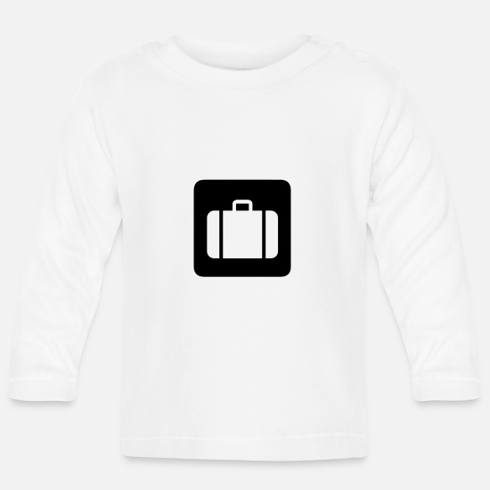 Suitcase Baby Clothes - suitcase,travel,airport,train station - Baby Longsleeve Shirt white