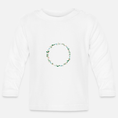 Evergreen An evergreen wreath - Baby Longsleeve Shirt