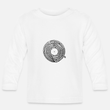 Turntable dissolved turntable - Baby Long Sleeve T-Shirt
