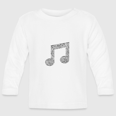 Music notes icon sign gift - Baby Long Sleeve T-Shirt