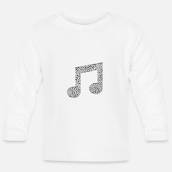 Music Baby Clothes - Music notes icon sign gift - Baby Longsleeve Shirt white