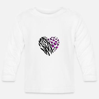 Leoprint ANIMAL HEART - Baby Langarmshirt