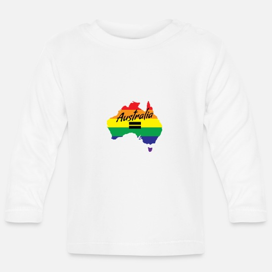 Marriage Equality Baby Clothes - Vote Yes-Australia Marriage Equality - Baby Longsleeve Shirt white