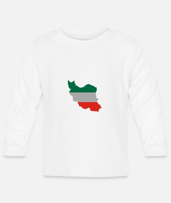 Ahmadinejad Baby Long-Sleeved Shirts - iran_flagg - Baby Longsleeve Shirt white