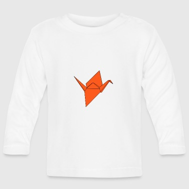 origami paper plane paper airplane33 - Baby Long Sleeve T-Shirt