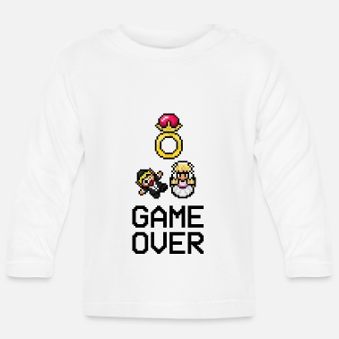 Pixel Game Over - Pixelart - Wedding - Ring - Retrogame - Baby Longsleeve Shirt