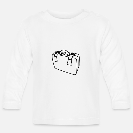 Suitcase Baby Clothes - Suitcase - Baby Longsleeve Shirt white