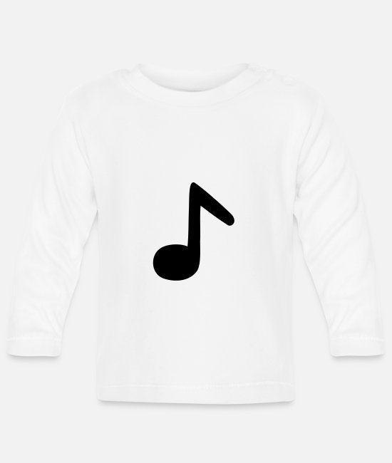 Guitar Baby Long-Sleeved Shirts - eighth note - Baby Longsleeve Shirt white