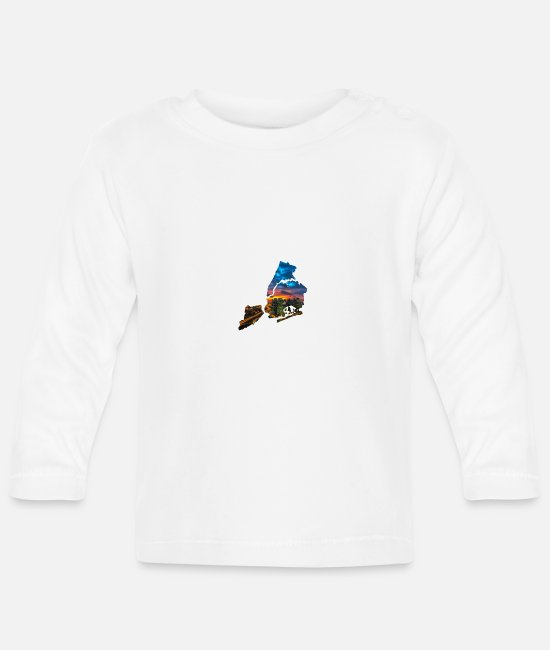 New York City Baby Long-Sleeved Shirts - NY - Baby Longsleeve Shirt white