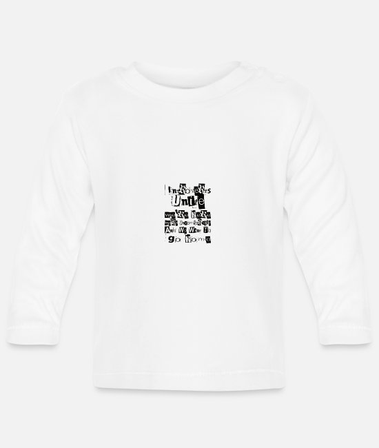 Cave Baby Long-Sleeved Shirts - Intorvertiert - Baby Longsleeve Shirt white