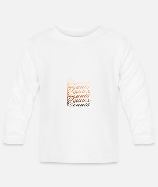 Blow Up Baby Long-Sleeved Shirts - tennis player - Baby Longsleeve Shirt white