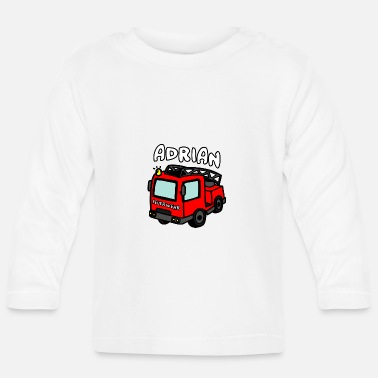 Engine Adrian Name First name Children Gifts Fire Engine - Baby Longsleeve Shirt