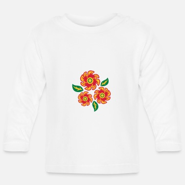 Three Of A Kind three bunch flowers - Baby Longsleeve Shirt