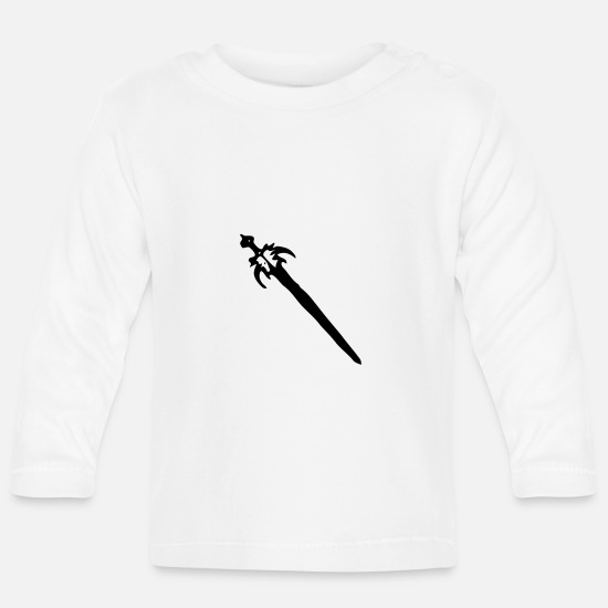 Sword Baby Clothes - Sword - Baby Longsleeve Shirt white