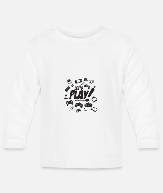 Programmemer Baby Long-Sleeved Shirts - Let's play motherfucker - Baby Longsleeve Shirt white
