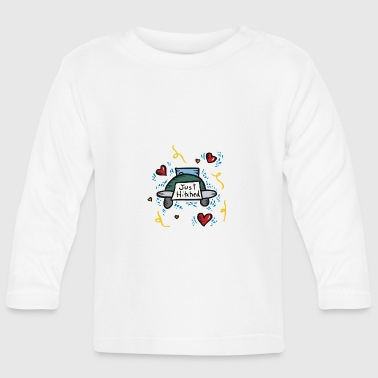Just Married Just Hitched - Baby Langarmshirt