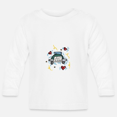 Just Just Married Just Hitched - Långärmad T-shirt baby