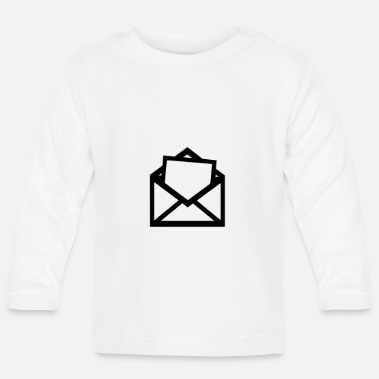 Post Baby Clothes - Mail - Baby Longsleeve Shirt white