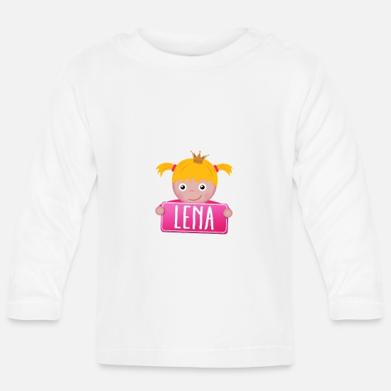 Baby On Board Baby Clothes - Little Princess Lena - Baby Longsleeve Shirt white
