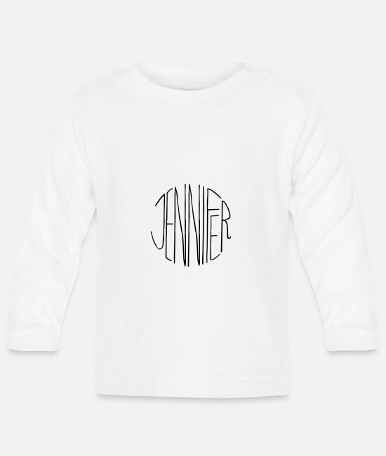 Pregnancy Baby Long-Sleeved Shirts - Jennifer's gift - Baby Longsleeve Shirt white