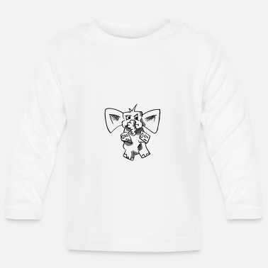 Topper Coole design olifant - Baby longsleeve