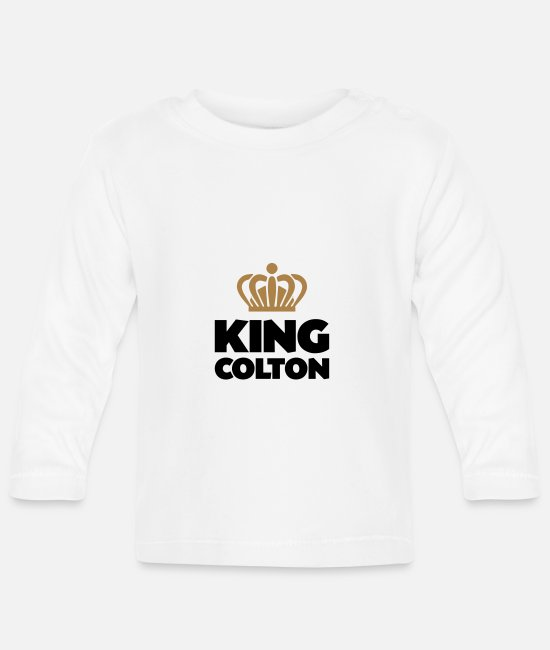 Colton Baby Long-Sleeved Shirts - King colton name thing crown - Baby Longsleeve Shirt white